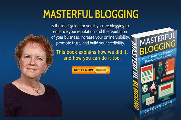 Masterful Blogging Book on Amazon